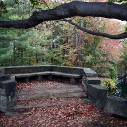 The fully restored Hidden Aspect at Stan Hywet Hall & Gardens in Akron. Guests are able to enjoy the historic area after erosion of the rock face overlooking the lagoons was repaired. (Leah Klafczynski/Akron Beacon Journal)