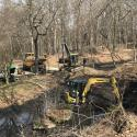 Dredging the smallest lagoon pond